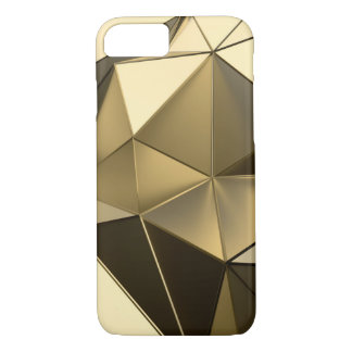 Goldpolygonentwurf iPhone 7 Hülle