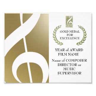 Goldpreis-Zertifikat Fotodrucke