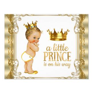 Goldprinz Babyparty 10,8 X 14 Cm Einladungskarte