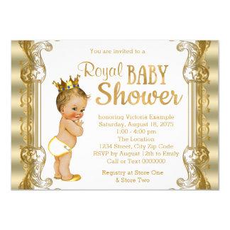 Goldprinz Babyparty 11,4 X 15,9 Cm Einladungskarte