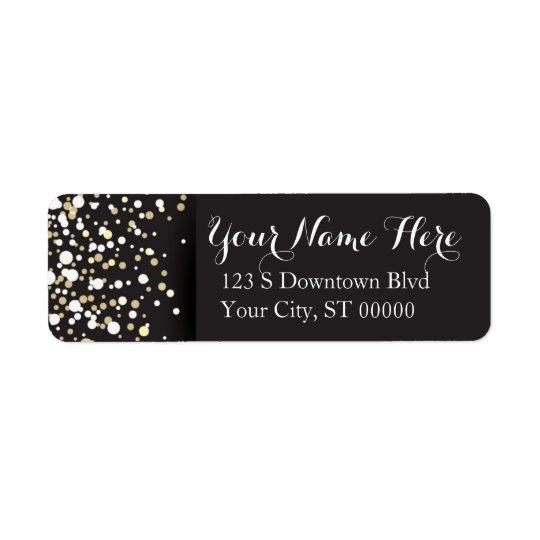 Goldpunkte - Adressen-Etiketten Rücksendeetiketten
