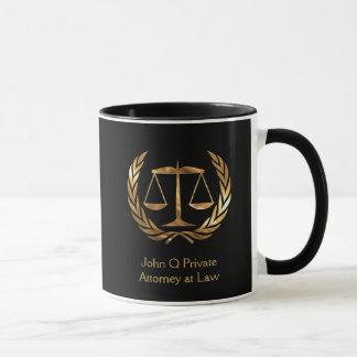 Goldrechtsanwalts-Skalen der Tasse