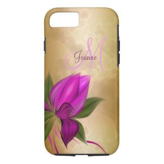 GoldRosen-Blumenmarmor iPhone 8/7 Hülle