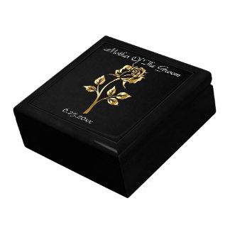 GoldRosen-Mutter des Bräutigam-Memento-Kastens Erinnerungskiste