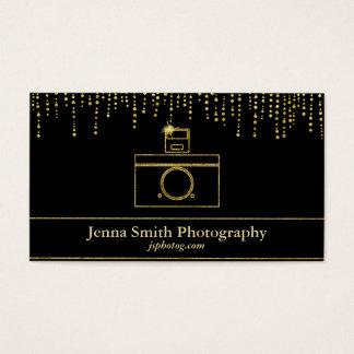 Goldschein-Kamera-Fotograf Visitenkarte