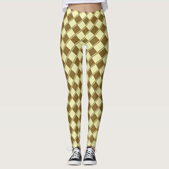 Goldschickes Muster auf Frühlings-Gelb! Leggings