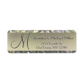 Goldschimmer-Glitter-Adressen-Etikett Rücksendeetiketten