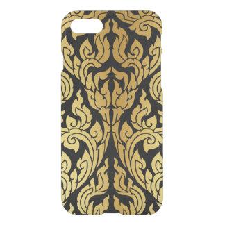 Goldschwarze moderner Entwurfs-Art Kanok Lai iPhone 8/7 Hülle