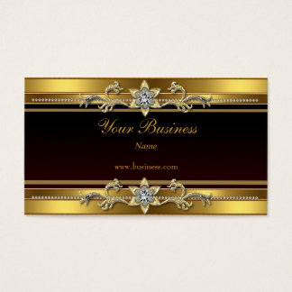 Goldschwarzes elegantes nobles Juwel Visitenkarten