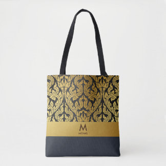 Goldschwarzes moderner Entwurfs-Art Kanok Lai Tasche