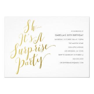 Goldskript-Überraschungs-Party Einladung