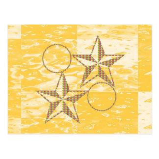 Goldstar passen DOPPELpaare zusammen Postkarte