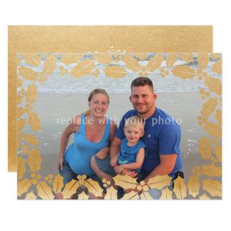 Goldstechpalmen-Blattüberlagerungs-Foto 12,7 X 17,8 Cm Einladungskarte