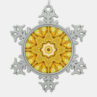 Goldstern-Fraktal-Schneeflocke-Verzierung Schneeflocken Zinn-Ornament