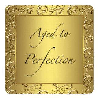 Goldstrudel gealtert zum quadratische 13,3 cm einladungskarte