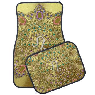 Goldtierkreis-Zeichen-Löwe-Mandala Automatte