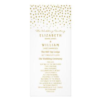 GoldTupfen-Hochzeits-Programm Kartendruck