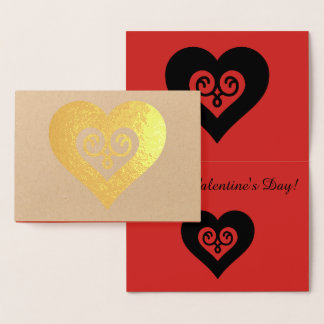 GoldValentinsgruß-Herz Folienkarte