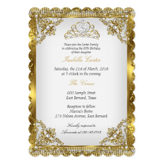 Goldweißes 12,7 X 17,8 Cm Einladungskarte