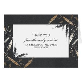 Goldweizen-Hochzeit im Herbst danken Ihnen Karte