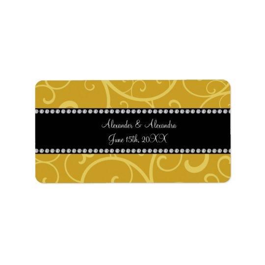 GoldWirbels-Gastgeschenke Hochzeit Adressaufkleber
