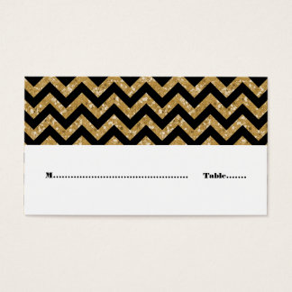 GoldZickzack Glitzer-Platzkarte Visitenkarte