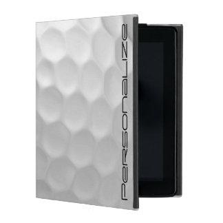 Golf-Ball bildet Muster mit personalisiertem Namen iPad Schutzhülle