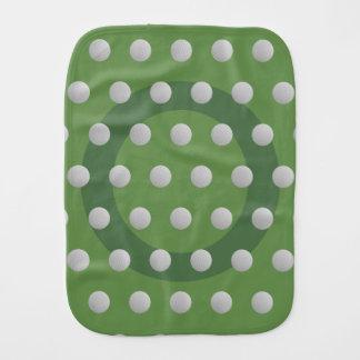Golf-Ball-Punkt-Muster-Moos-Grünburp-Stoff Baby Spucktuch