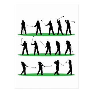 Golf das Reihenfolge fährt Postkarten