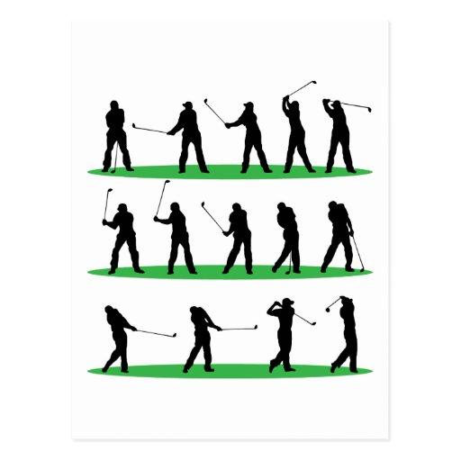 Golf, das Reihenfolge fährt Postkarten