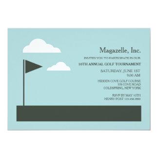 Golf-Flaggen-Einladung
