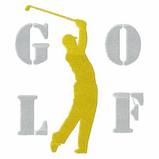 Golf gestickter langer Hülsen-T - Shirt