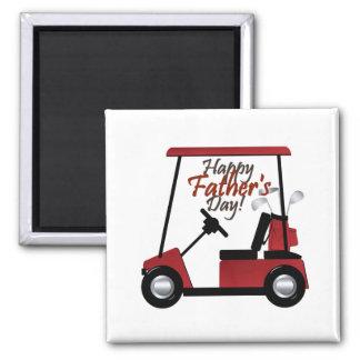 Golf-glücklicher Vatertag Quadratischer Magnet