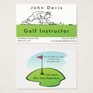 Golf-Golfspieler-Lehrer-Golfplatz-Visitenkarte Visitenkarte