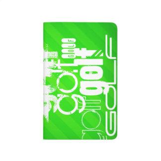 Golf; Grüne Neonstreifen Taschennotizbuch
