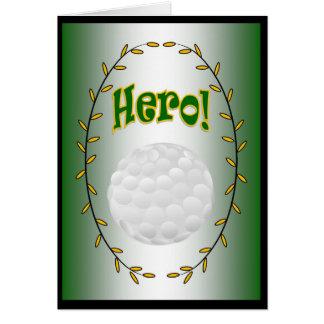 Golf-Held! Grußkarte