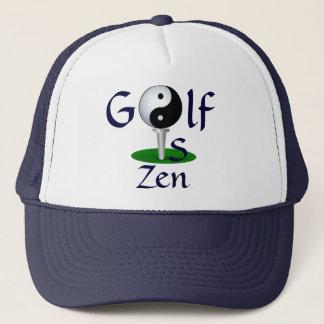 """""""Golf ist Zen"""" Hut Truckerkappe"""