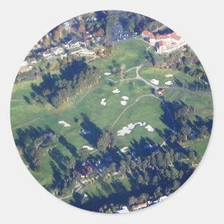 Golf-Kurs-Foto Runder Aufkleber