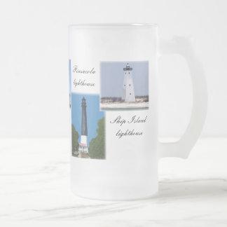 Golf-Küstenleuchttürme Mattglas Bierglas