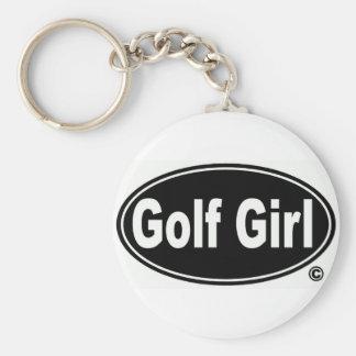 Golf-Mädchen-Knopf Keychain Schlüsselanhänger