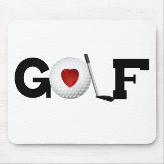 Golf mit Golfball Mousepads