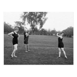 Golf-Mode die Zwanzigerjahre der Frauen Postkarte