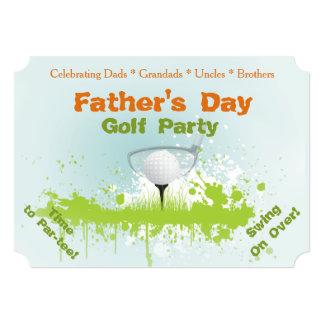 Golf-Party-Vatertags-Einladung