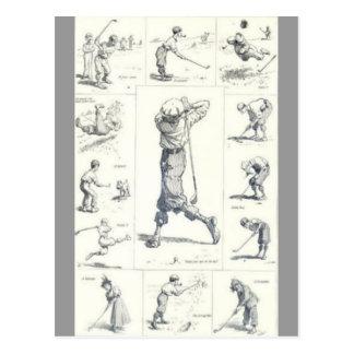 Golf Postkarte