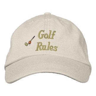 Golf-Regeln stickten Hut