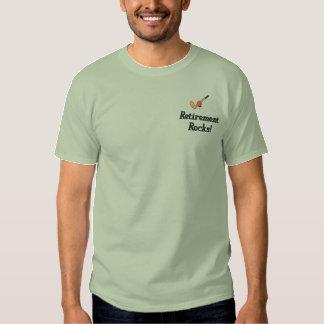 Golf-Ruhestand gesticktes Shirt