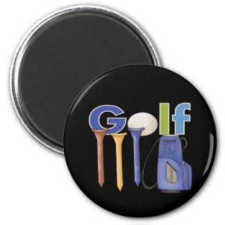 Golf Runder Magnet 5,1 Cm