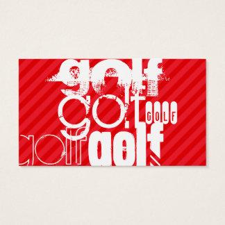Golf; Scharlachrot Rot-Streifen- Visitenkarte