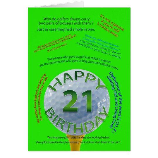 Golf scherzt Geburtstagskarte für 21 Jährige Grußkarte
