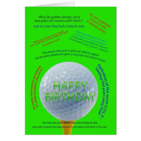 Golf scherzt Geburtstagskarte Grußkarte